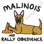 Funny Belgian Malinois Rally-O Embroidery