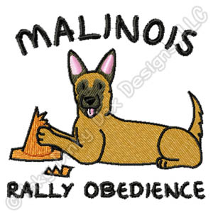 Funny Belgian Malinois Rally-O Embroidery