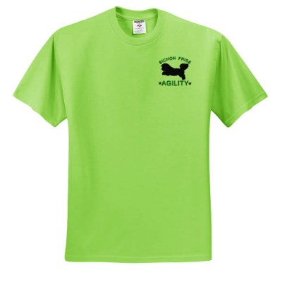 Embroidered Bichon Frise Agility T-Shirt