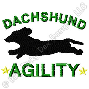 Agility Dachshund Embroidery