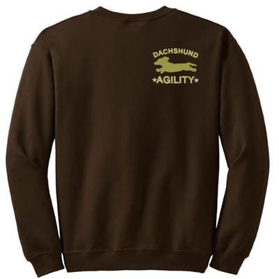 Embroidered Dachshund Agility Sweatshirt