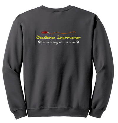 Embroidered Dog Obedience Instructor Sweatshirt