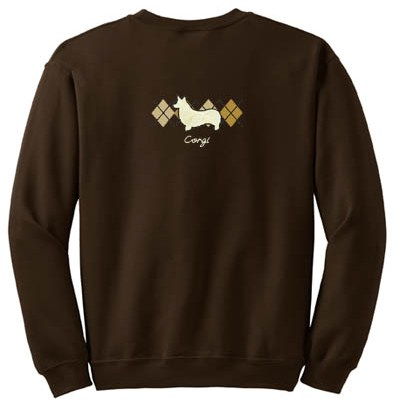 Sophisticated Pembroke Welsh Corgi sweatshirt