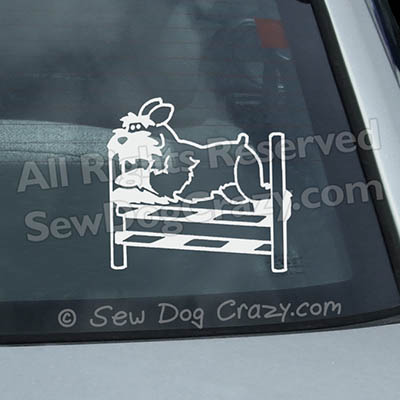 Schnauzer Agility Window Decal