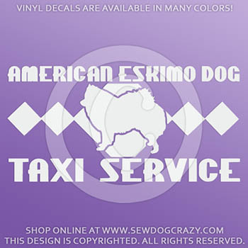 American Eskimo Dog Taxi Decals