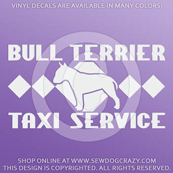 Bull Terrier Taxi Decals
