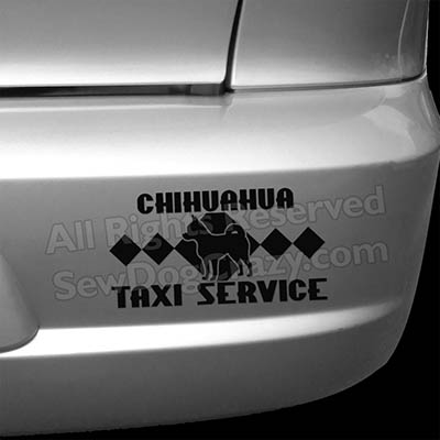 Smooth Coat Chihuahua Taxi Bumper Stickers