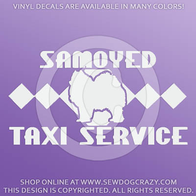 Samoyed Taxi Car Decals