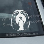 Bearded Collie Car Window Sticker