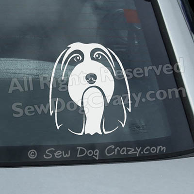 Bearded Collie Car Window Sticker