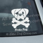 Pirate Pug Window Stickers
