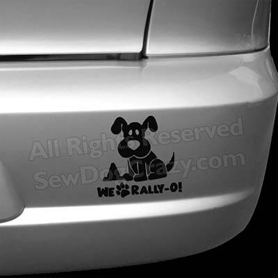Cartoon RallyO Bumper Sticker