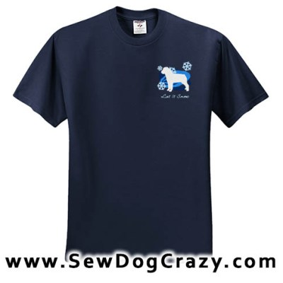 Embroidered Rottweiler Snow Tshirt