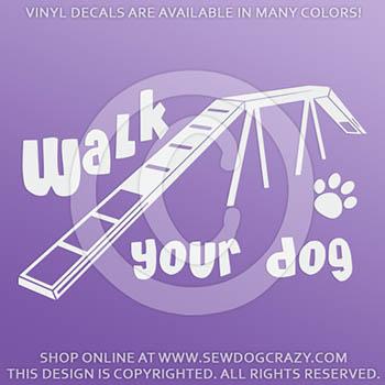 Agility Dog Vinyl Decals