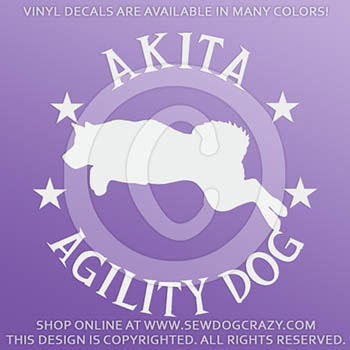 Akita Agility Decals