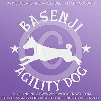 Basenji Agility Decals