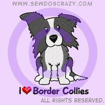 Embroidered Border Collie Shirts