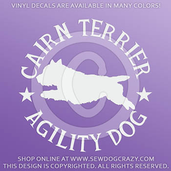 Cairn Terrier Agility Decals