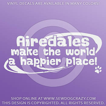 Cute Airedale Decals