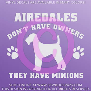 Airedale Terrier Minions Decal