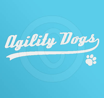 Agility Dogs baseball decal