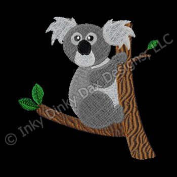 Cute Cartoon Koala Embroidery