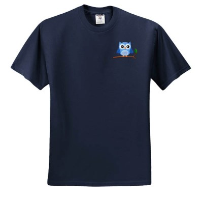 Cute Embroidered Owl T-Shirt Gift