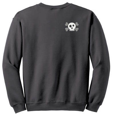Cool Embroidered Skull Sweatshirt