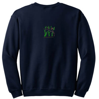 Unique Sea Dragon Embroidered Sweatshirt