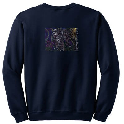 Artistic Old English Sheepdog Sweatshirt