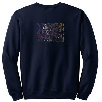 Artistic Old English Sheepdog Sweatshirt