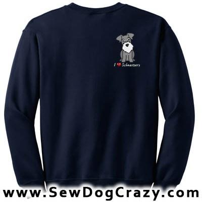 Embroidered Cartoon Schnauzer Sweatshirt