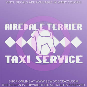 Airedale Taxi Car Decal