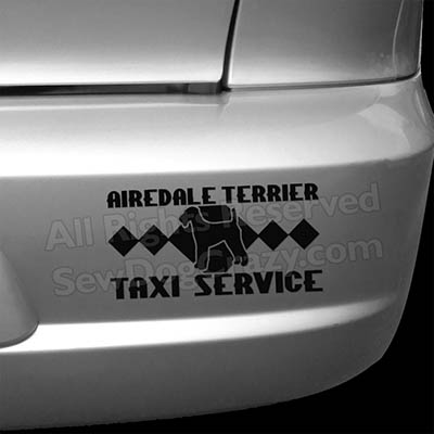 Airedale Taxi Car Sticker