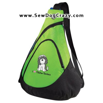 Cartoon Tibetan Terrier Bag