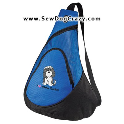 Embroidered Cartoon Tibetan Terrier Bag