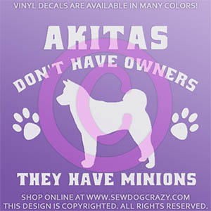 Funny Akita Stickers