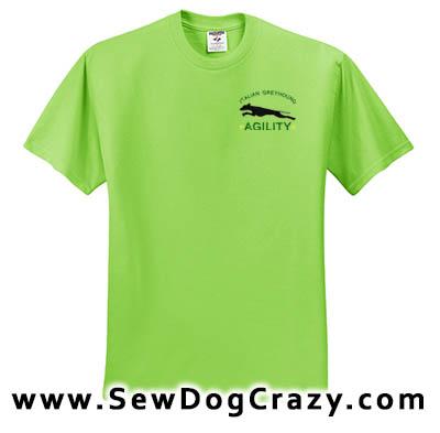 Italian Greyhound Agility Tshirt