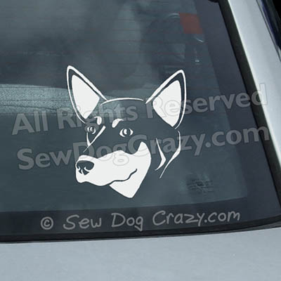 Australian Kelpie Head Window Sticker