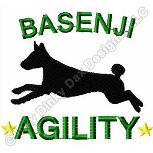 Basenji Agility Embroidery