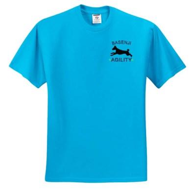 Embroidered Agility Basenji T-Shirt