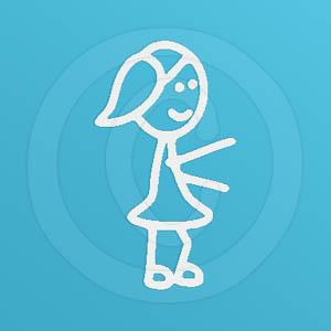 Girl Disc Dog Stick Figure Decals