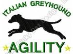 Italian Greyhound Agility Embroidery