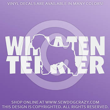 Soft Coated Wheaten Terrier Decals