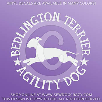 Bedlington Terrier Agility Stickers