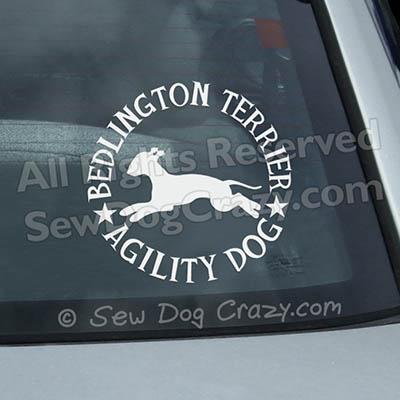 Bedlington Terrier Agility Car Window Stickers
