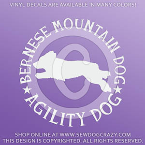 Bernese Mountain Dog Agility Decals