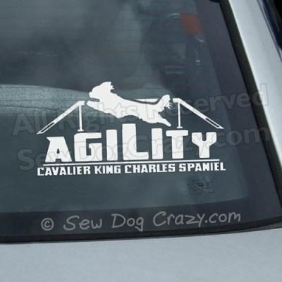 Cavalier King Charles Spaniel Agility Car Window Sticker