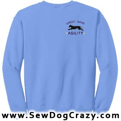 Embroidered Great Dane Agility Sweatshirt