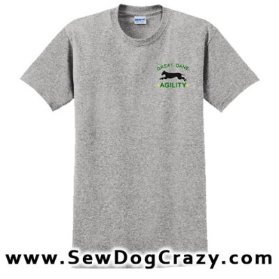 Embroidered Great Dane Agility TShirt